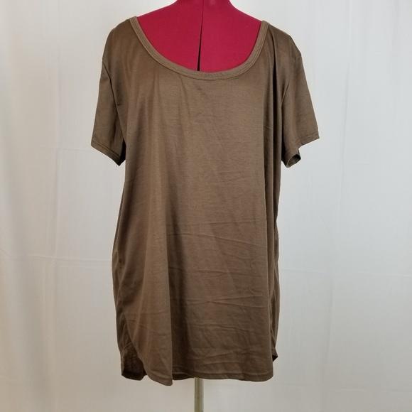 d153c9d5a762b3 Doublju Tops   Womens Tunic Top Tee Shirt 3x Brown Hilo   Poshmark